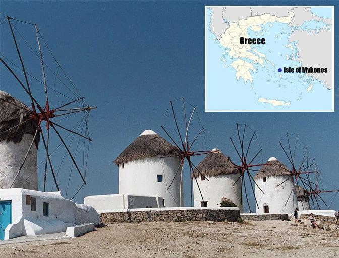 Top 10 Islands World Mykonos Windmills