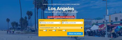 Disappointing travel destination Los Angeles