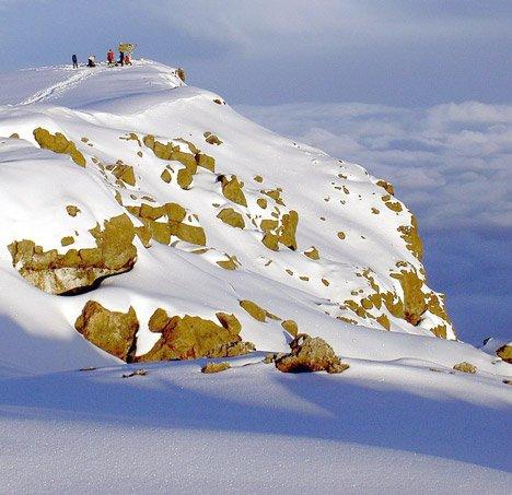 Uhuru Peak, Mt. Kilimanjaro at 5,892 m