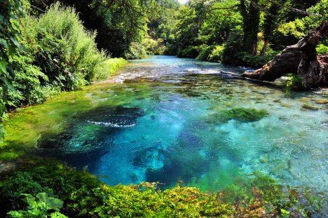 Blue Eye Spring in Southern Albania