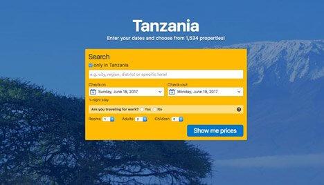 Book a hotel in the Arusha Region of Tanzania