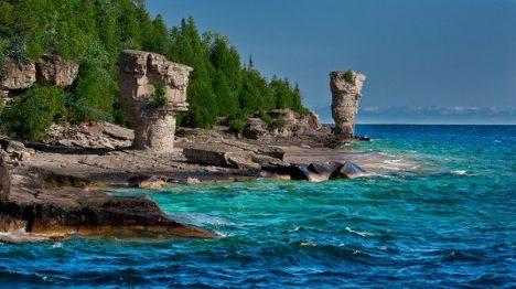 Canada. Flowerpot Island - in Georgian Bay (Ontario). Part of Fathom Five National Marine Park.