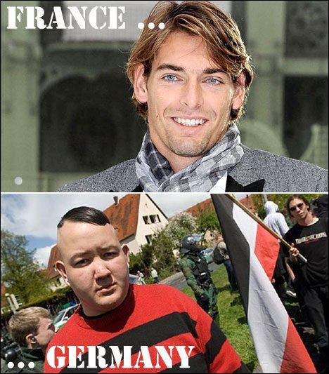 Frenchman vs. German man