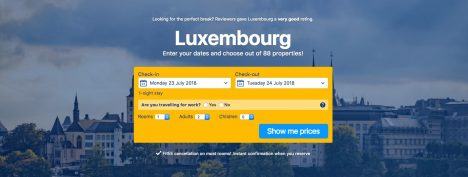 Book accommodation in Luxembourg
