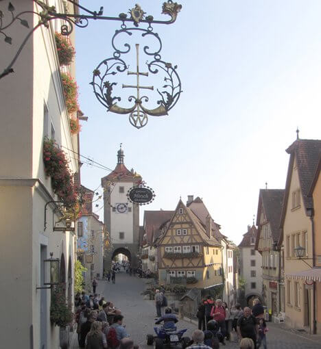Germanys Stereotype Tourist Photos Rothenburg, probably Germany's No. 1 medival town.