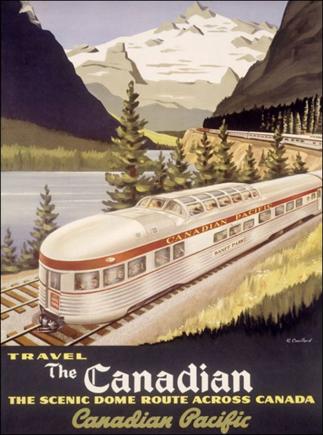 Vintage tourist poster Canadian Pacific Railway