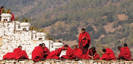 Bhutan Monastery monks worldexpeditions