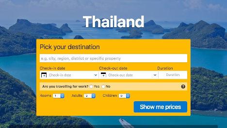 Book a hotel in Thailand