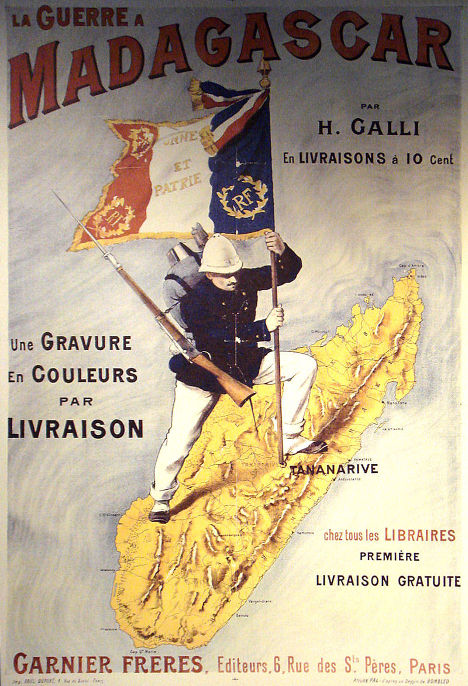 French Poster: La Guerre a Madagascar