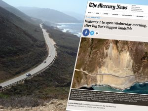 Californias Coastal Highway reopens Gorda