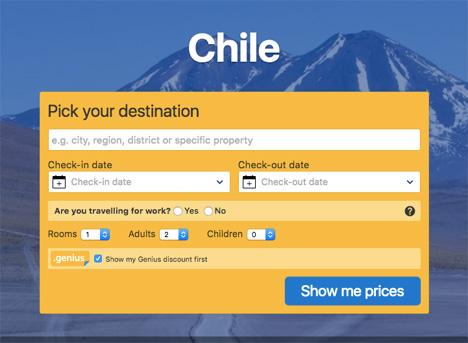chile booking com