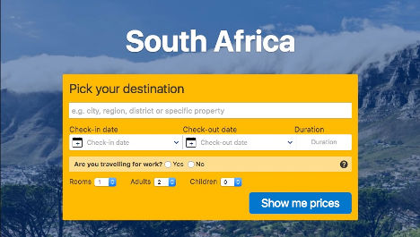 Book a property in South Africa here.