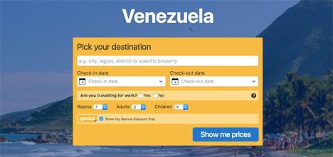 venezuela booking com